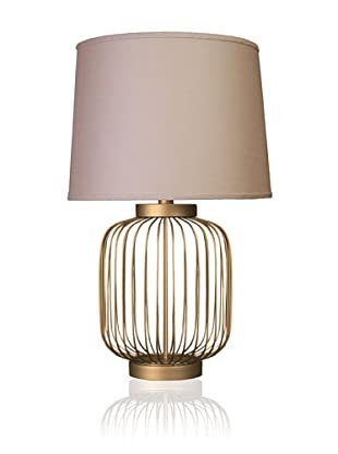 State Street Lighting Full-Size Wire-Body Table Lamp, Dull Gold
