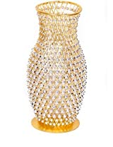 Rck Products Iron Vase(10 inch, Golden Color)