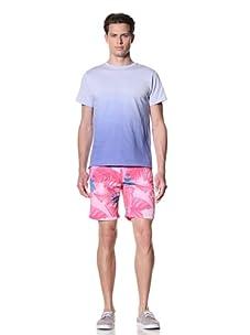 Olasul Men's Noche Shorts Sleeve Tee (Violet)