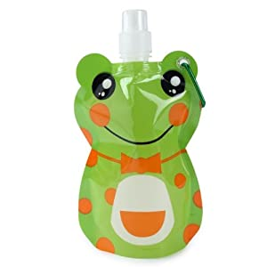 Mom Italy Kiddy Foldable Frog Water Bottle