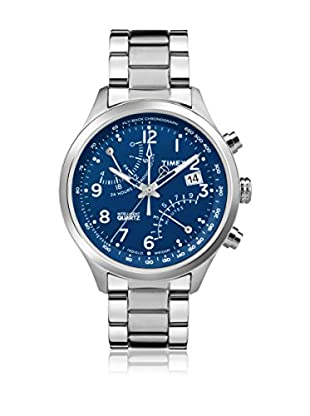 TIMEX Reloj de cuarzo Man Intelligent Fly-back Chronograph Plateado 43 mm