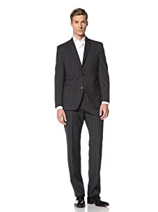 Tallia Men's Varga 2-Button Striped Suit (Navy)