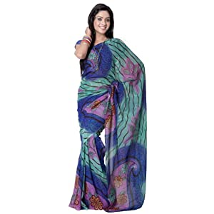Blue Saree For Women