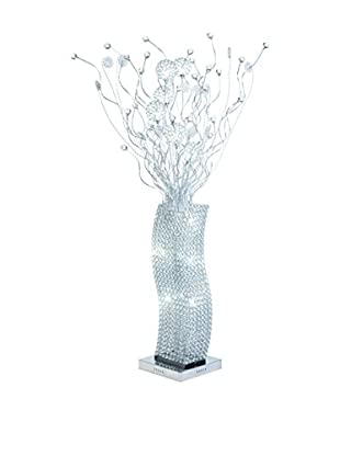 Illuminated Décor 12-Light LED Floor Lamp With Crystals, Silver