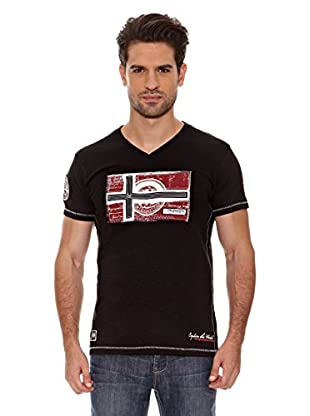 Geographical Norway Camiseta Jeographic Ss Men 202 (Negro)