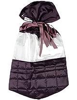 Black Box Poly Satin and Vinyl Purple Shoe Bag