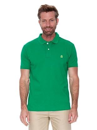 Cortefiel Polo Piqué Básico (Verde)