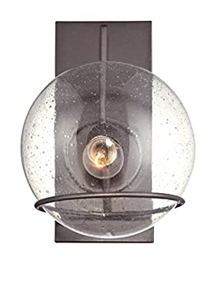 Varaluz Watson 1-Light Wall Lighting, Metallic Bronze/Clear