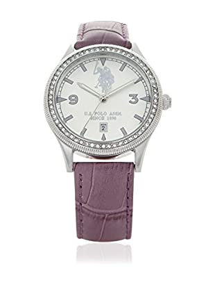U.S. POLO ASSN. Uhr mit japanischem Quarzuhrwerk Javier violett 40 mm