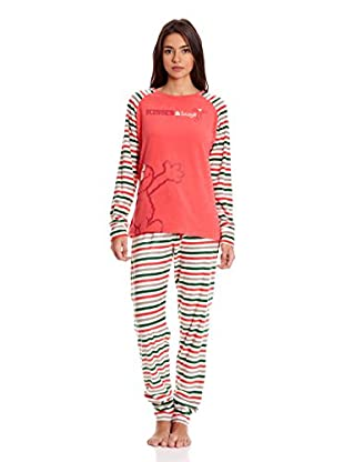 Gisela Pijama Camiseta Y Pantalón (Coral)
