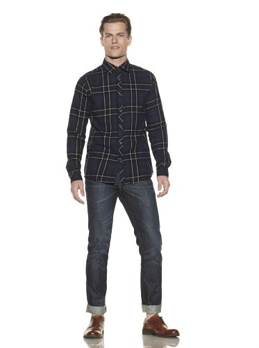 Cohesive Men's Empire Button-Front Shirt (Blue)