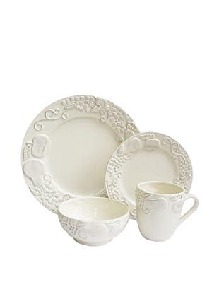 American Atelier Frutta 16-Piece Dinnerware Set, Cream