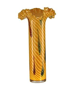 Dale Tiffany Oasis Tall Ruffle Vase, Yellow Multi
