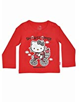 Hello Kitty Girls T-shirt - Red (0 - 12 Months)