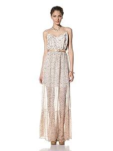 Gypsy 05 Women's Tiara Ruffle Bottom Maxi-Dress (Tangerine)