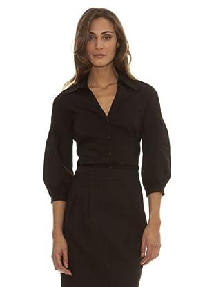 Trussardi Camisa Cierre De Botones (negro)