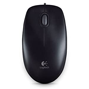 Logitech M100r Wired USB Mouse (Black)