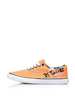 Erase Zapatillas Deportivas con Cordones de Lona (Naranja)
