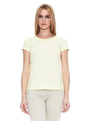 Pepe Jeans London Camiseta New Virginia (Amarillo Claro)