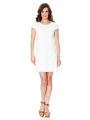 Cortefiel Kleid Croché (Weiß)
