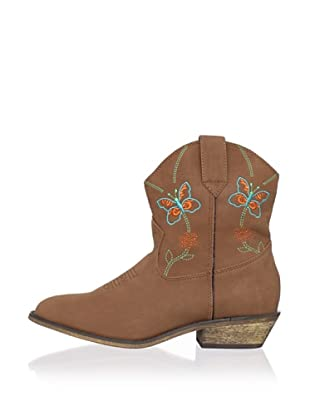 Dingo Kid's Embroidered Butterfly Boot (Rust)