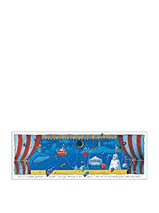 Artopweb Panel Decorativo Agostini Teatro Sul Mare 35x100 cm Multicolor