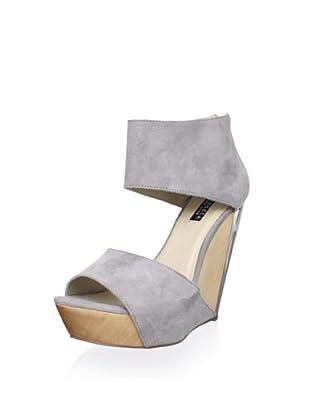 Messeca Women's Carlie Double Band Wedge Sandal (Slate Suede)
