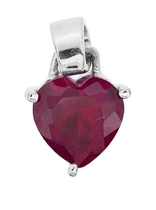 Luxenter Colgante Corazón Rubi Circonita