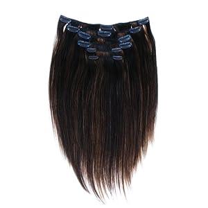 "Tressecret Six Piece 14"" Clip-in Human Hair Extension Kit, Frost Light Auburn"