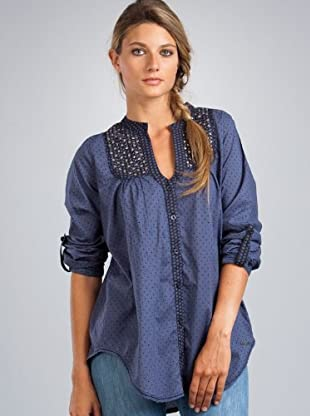 Le Temps Camisa make (Azul)
