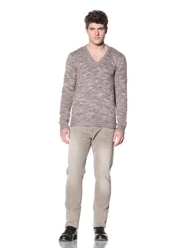 SPURR Men's Knit V-Neck Sweater (Tan)