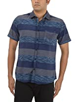 King Richard Men's Casual Shirt (AVB48_44, Blue, 44)