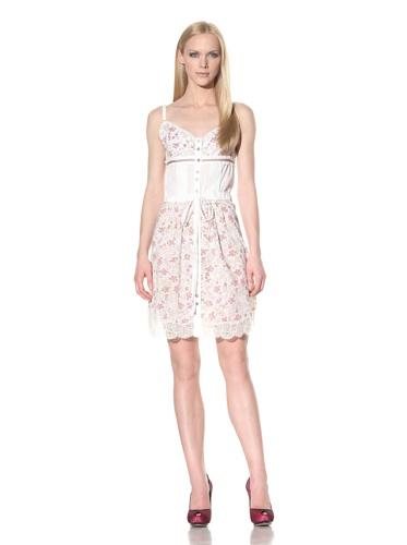 D&G by Dolce & Gabbana Women's Lace-Trimmed Sundress (Floral Print)