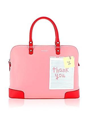 davidelfin Bolso asa de mano Note Briefcase Rosa