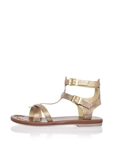 Matt Bernson Women's KM Gladiator Flat Sandal (Bronze)