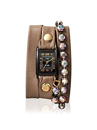 La Mer Collections Women's LMCW9919 Paris Rain Malibu Tan Leather Watch