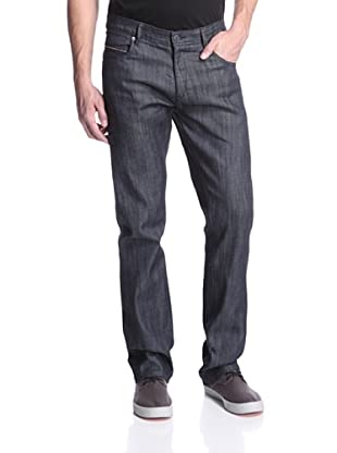 Mondo di Marco Men's Slim Fit Jean with Colored Selvage (Dark Indigo)