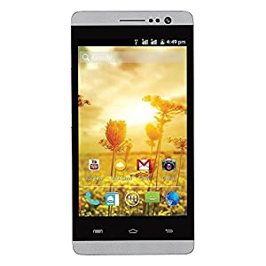 Spice MI-506 Stellar Mettle Icon Dual SIM Android Mobile Phone, White-Silver