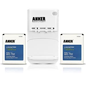 Anker 2 x 1900mAh Li-ion Batteries for Samsung Galaxy S II S2 GT-I9100, Galaxy S2 II I9100, Galaxy S2 II 9100G ( Note: Charger is White ) + Free Anker Multi-purpose USB Travel Charger