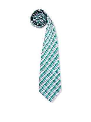Olimpo Corbata Cuadros (Verde)