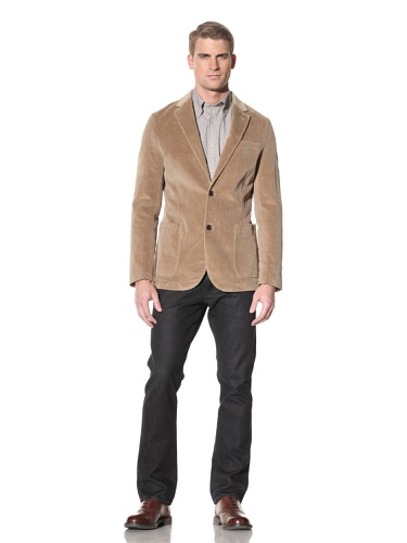 Hart Schaffner Marx Men's Two-Button Blazer (Sand)