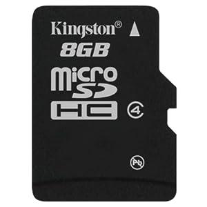 Kingston MicroSDHC 8GB Micro Class 4 Memory Card (SDC4/8GB)