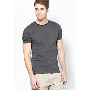 Ringspun Black Chevron Print Men's T-Shirt