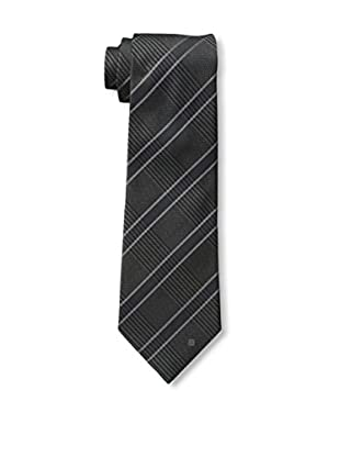 Givenchy Men's Plaid Tie, Navy Blue