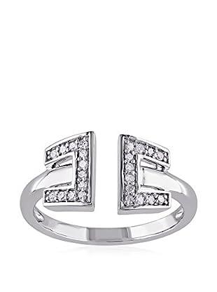 Lili & Blake Sterling Silver Diamond Open Ring