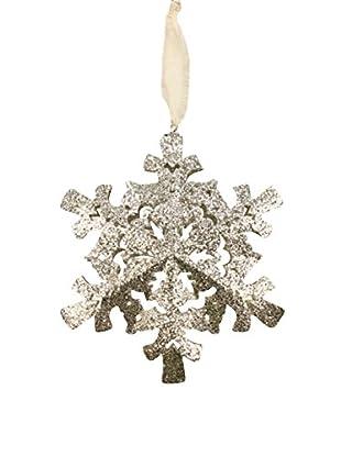 Sage & Co. Glittered Snowflake Ornament
