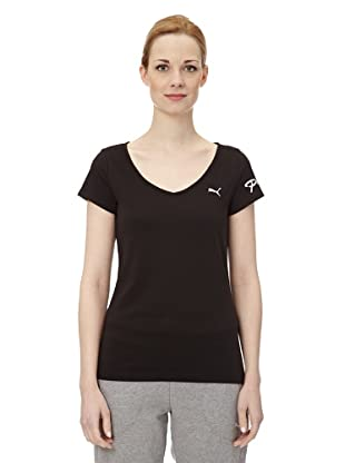 Puma Damen T-Shirt Pumascript Top II (Black)