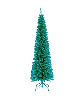 National Tree Company 6' Turquoise Tinsel Tree