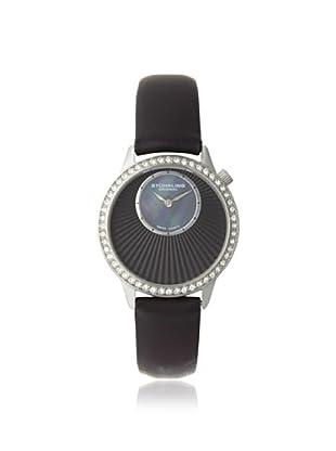 Stuhrling Original Women's 336.12151 Vogue Audrey Radiant Black Mother of Pearl Subdial Watch