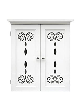 Elegant Home Dallia 2-Door Wall Cabinet, White